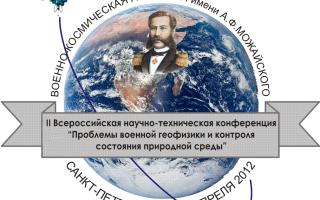 События -II Всероссийская научная конференция «Проблемы военно-прикладной геофизики и контроля состояния природной среды»