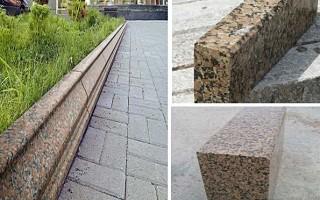 Особенности бордюрного камня