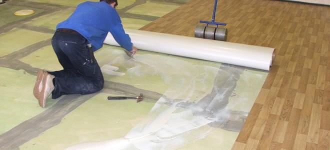 Как стелить линолеум на деревянный пол на даче